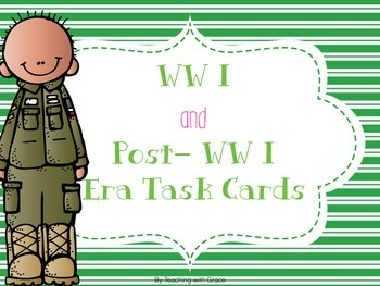 WWI and Post WWI Era Task Cards