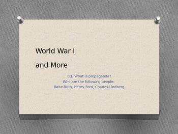 WWI and Propoganda PPT
