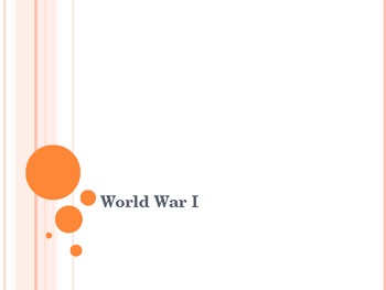 WWI and the 20's Powerpoint