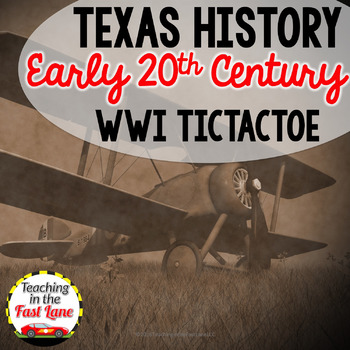 WWI and the Roaring 20's TicTacToe Choice Board