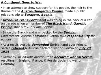 WWI detailed Powerpoint