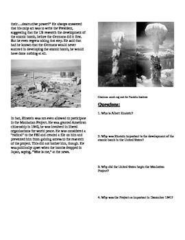 WWII: World War Two  Albert Einstein and the Atomic Bombs