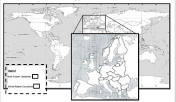 WWII Alliances Map