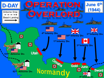 WWII: Allied Counterattack & Victory in Europe Animated PowerPoint & Notes (7.4)