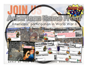 WWII- American Home Front: PowerPoint and Student Infograp