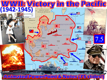 WWII: American Victory Over Japan Animated Powerpoint & Notes (7.5)