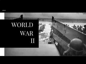 WWII - An Introduction & Overview of Canadian Involvement