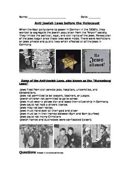 WWII: World War Two  Anti-Jewish Legislation