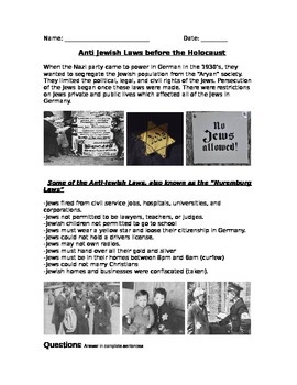 WWII: World War Two  Anti-Jewish Legislation