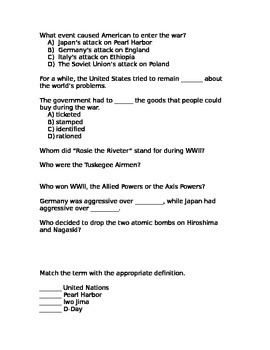 WWII Assessment