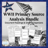 WWII BUNDLED SET Primary Source Analysis Assignment Handouts US History