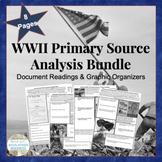 WWII BUNDLED SET Primary Source Analysis Assignment Handou