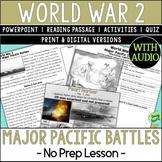 World War 2 Battles, World War II, WW2, WWII, Pacific Thea