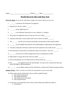 WWII & Cold War Review and Test