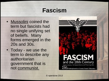 WWII: Comprehensive PowerPoint on Rise and Fall of European Fascism