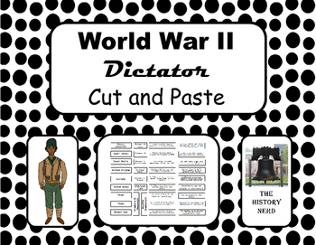 WWII Dictator Interactive Notebook Activity