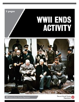 WWII Ends Activity