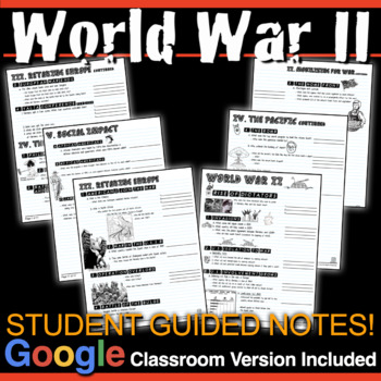 World War 2 Unit: PPTs w/Video Clips, Primary Source Lessons, Activity & Test