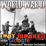 World War 2 Unit: PPTs, Worksheets, Guided Notes, Test + D