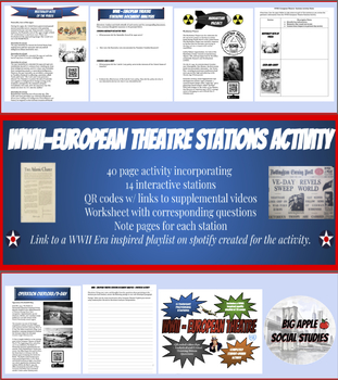 WWII - European Theatre Stations Activity