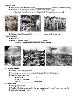 WWII: World War Two Fill-In Notes