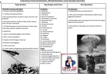 WWII Flash Cards - Common Core Review Bundle