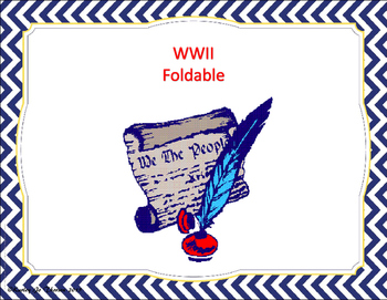 WWII Foldable