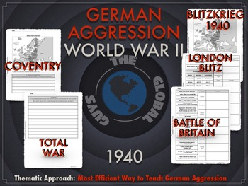 WWII: German Aggression 1939-1941 Thematic Notebook