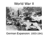 WWII  - German Expansion - 1933-41