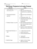 WWII: Germany Prepares to Invade Poland - 2-Column Notes
