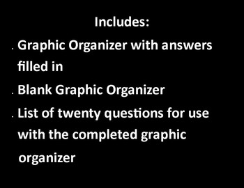 "WWII Graphic Organizer with key & 20 questions  11 x 17"" size!"
