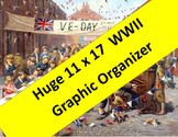 """WWII Graphic Organizer with key & 20 questions  11 x 17"""" size!"""