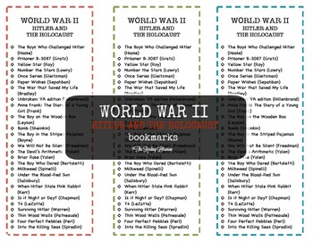 WWII: Hitler and the Holocaust Bookmarks