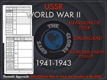 WWII INVASION OF USSR NOTES THROUGH A THEMATIC APPORACH