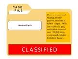 WWII: Internment Camps CSI - Common Core