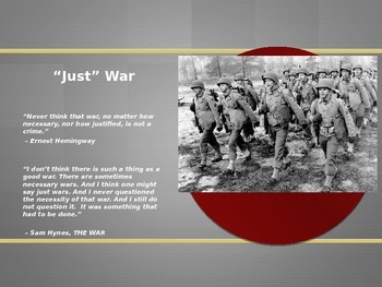 US History Powerpoint (WWII Introductory & The Beginning of the War