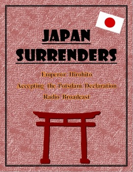 WWII JapanSurrenders:  Japanese Emperor Speech with questions