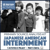 Japanese Internment WWII Activities Print & Digital