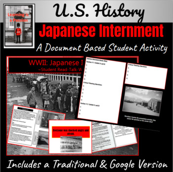 WWII: Japanese Internment Student Activity