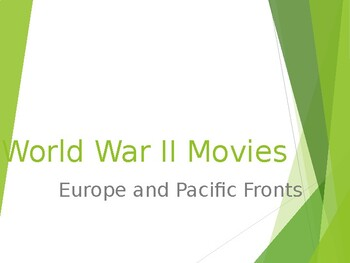 WWII MOVIE POWERPOINT