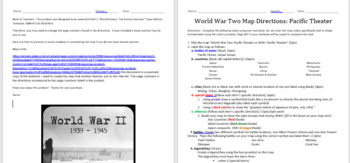 WWII Map Activity Worksheet: Pacific Theaters