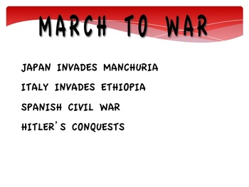 WWII--March To War