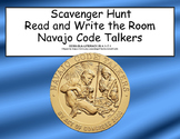 World War II, WW2, - Navajo Code Talkers- Read and Write The Room Scavenger Hunt