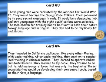 World War II, WW2, - Navajo Code Talkers- Read and Write The Room Scavenger Hunt