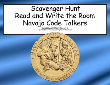 WWII- Navajo Code Talkers- Read and Write The Room Scavenger Hunt