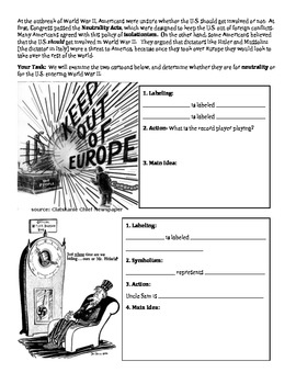 WWII - Neutrality Acts Political Cartoons