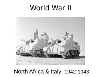 WWII - North Africa and Italy - 1942-43