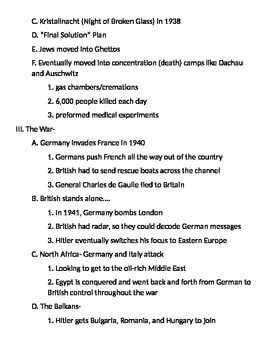 Global 2: WWII Notes