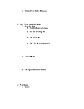 WWII Notes Outline - Blank