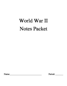 WWII Notes Packet